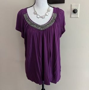 Bedazzled Purple Top
